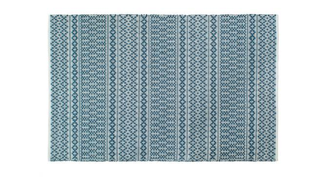 "Rivoli Dhurrie (Blue, 122 x 183 cm  (48"" x 72"") Carpet Size) by Urban Ladder - Front View Design 1 - 210056"