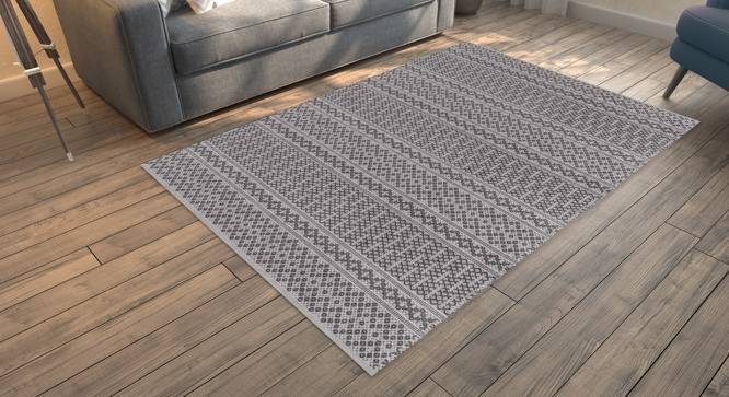 "Rivoli Dhurrie (Grey, 122 x 183 cm  (48"" x 72"") Carpet Size) by Urban Ladder - Design 1 Full View - 210067"