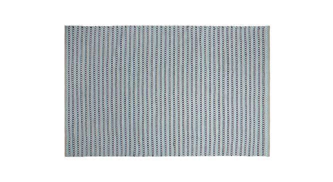 "Kelpie Dhurrie (Blue, 91 x 152 cm  (36"" x 60"") Carpet Size) by Urban Ladder - Design 1 Half View - 210138"