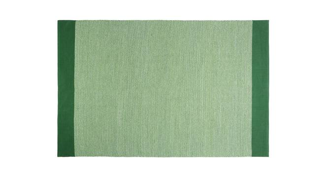 "Cosmos Dhurrie (Green, 48"" x 72"" Carpet Size) by Urban Ladder"