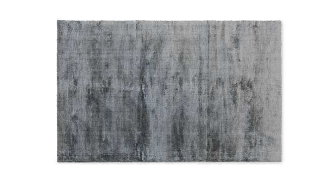 "Rubaan Viscose Rug (91 x 152 cm  (36"" x 60"") Carpet Size, Sliver Grey) by Urban Ladder - Design 1 Half View - 210304"