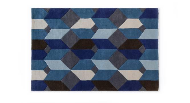 "Elberta Carpet (Blue, 152 x 244 cm  (60"" x 96"") Carpet Size) by Urban Ladder - Design 1 Half View - 210327"