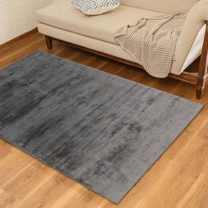 "Rubaan Viscose Rug (36"" x 60"" Carpet Size, Sliver Grey) by Urban Ladder"