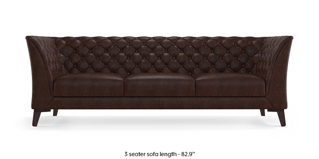 Weston Half Leather Sofa (Chocolate Italian Leather) (Chocolate, 1-seater Custom Set - Sofas, None Standard Set - Sofas, Regular Sofa Size, Regular Sofa Type, Leather Sofa Material)