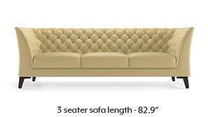 Weston Half Leather Sofa (Cream Italian Leather)