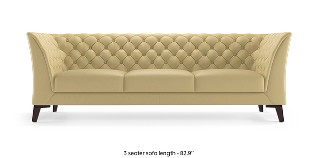 Weston Half Leather Sofa (Cream Italian Leather) (Cream, Cream, 1-seater Custom Set - Sofas, 2-seater Custom Set - Sofas, None Standard Set - Sofas, None Standard Set - Sofas, Regular Sofa Size, Regular Sofa Size, Regular Sofa Type, Regular Sofa Type, Leather Sofa Material, Leather Sofa Material)