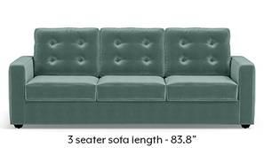 Apollo Tufted Sofa (Dusty Turquoise Velvet)
