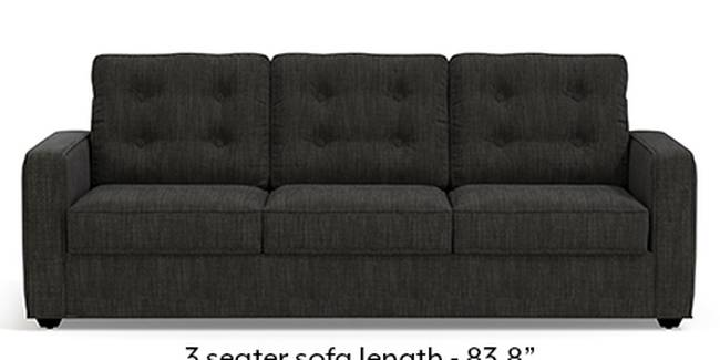 Apollo Sofa Set (Fabric Sofa Material, Regular Sofa Size, Soft Cushion Type, Regular Sofa Type, Master Sofa Component, Graphite Grey, Tufted Back Type, Regular Back Height)