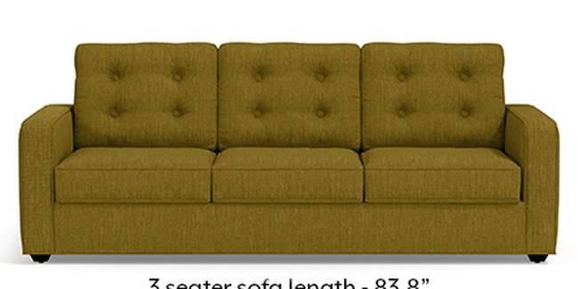 Apollo Sofa Set (Olive Green, Fabric Sofa Material, Regular Sofa Size, Soft Cushion Type, Regular Sofa Type, Master Sofa Component, Tufted Back Type, Regular Back Height)