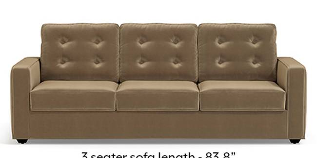 Apollo Sofa Set (Fabric Sofa Material, Regular Sofa Size, Soft Cushion Type, Regular Sofa Type, Master Sofa Component, Fawn Velvet, Tufted Back Type, Regular Back Height)
