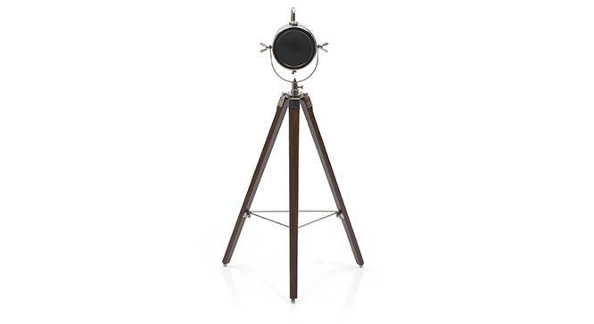 Belfast Tripod Spotlight (Teak Base Finish, Cylindrical Shade Shape, Nickel Shade Color) by Urban Ladder - - 21209