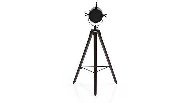 Belfast Tripod Spotlight (Mahogany Base Finish, Black Shade Color, Cylindrical Shade Shape) by Urban Ladder - - 21227