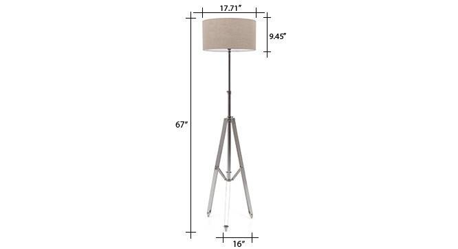 Issac tripod floor lamp natural linen drum shade 9 img 0281 dm