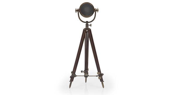 Endeavour Tripod Floor Lamp (Natural Base Finish, Cylindrical Shade Shape, Brass Shade Color) by Urban Ladder - - 21303