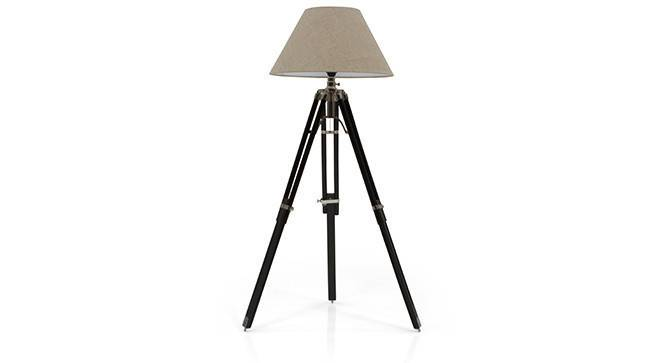 Hubble Tripod Floor Lamp (Black Base Finish, Natural Shade Color, Conical Shade Shape) by Urban Ladder - - 21323