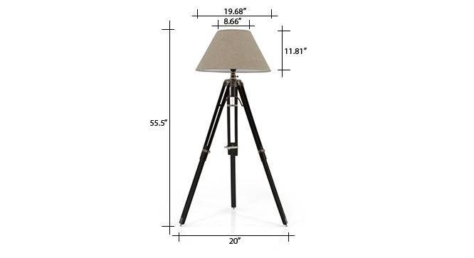 Hubble tripod floor lamp natural linen conical shade 08 img 0690 dm