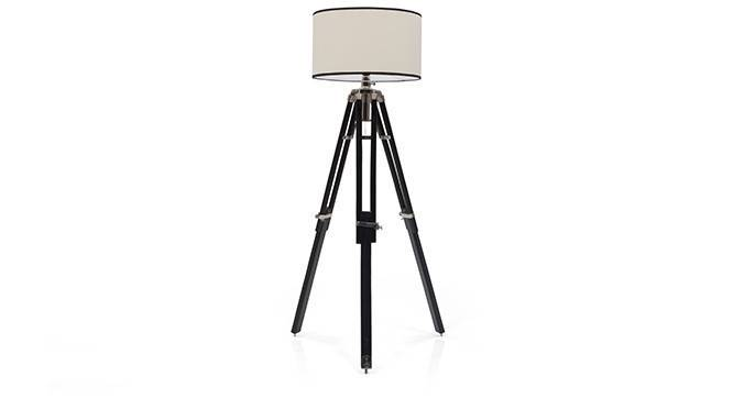 Hubble Tripod Floor Lamp (Black Base Finish, Cylindrical Shade Shape, White Shade Color) by Urban Ladder