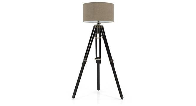 Hubble Tripod Floor Lamp (Black Base Finish, Cylindrical Shade Shape, Natural Shade Color) by Urban Ladder - - 21342