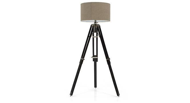Hubble Tripod Floor Lamp (Black Base Finish, Cylindrical Shade Shape, Natural Shade Color) by Urban Ladder - - 21343