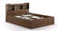 Sandon Storage Bed (Walnut Finish, King Bed Size) by Urban Ladder