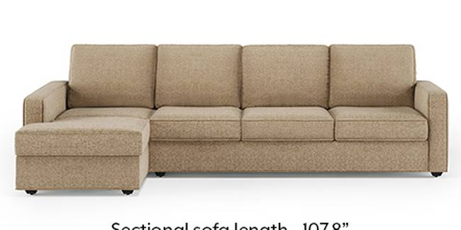 Apollo Sofa Set (Fabric Sofa Material, Regular Sofa Size, Soft Cushion Type, Sectional Sofa Type, Sectional Master Sofa Component, Safari Brown, Regular Back Type, Regular Back Height)