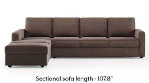 Apollo Sectional Sofa (Daschund Brown)