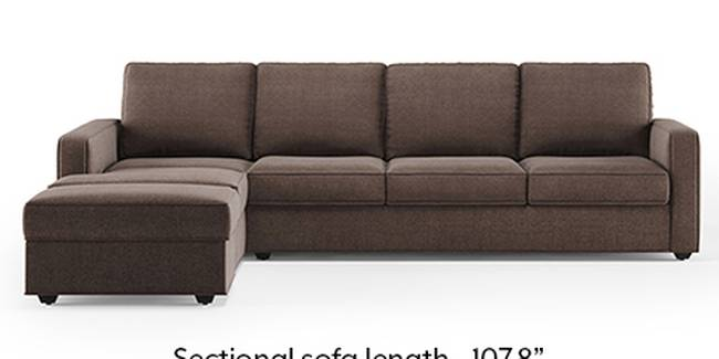 Apollo Sofa Set (Fabric Sofa Material, Regular Sofa Size, Soft Cushion Type, Sectional Sofa Type, Sectional Master Sofa Component, Daschund Brown, Regular Back Type, Regular Back Height)