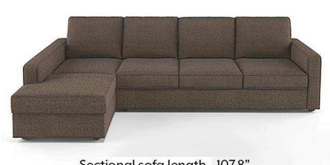 Apollo Sofa Set (Fabric Sofa Material, Regular Sofa Size, Soft Cushion Type, Sectional Sofa Type, Sectional Master Sofa Component, Pine Brown, Regular Back Type, Regular Back Height)
