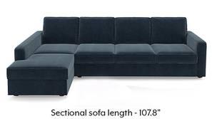 Apollo Sectional Sofa (Sea Port Blue Velvet)