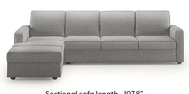 Apollo Sofa Set (Fabric Sofa Material, Regular Sofa Size, Soft Cushion Type, Sectional Sofa Type, Sectional Master Sofa Component, Vapour Grey, Regular Back Type, Regular Back Height)