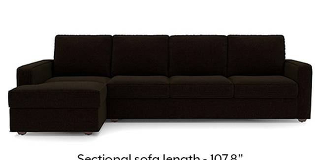 Apollo Sofa Set (Dark Earth, Fabric Sofa Material, Regular Sofa Size, Soft Cushion Type, Sectional Sofa Type, Sectional Master Sofa Component, Regular Back Type, Regular Back Height)