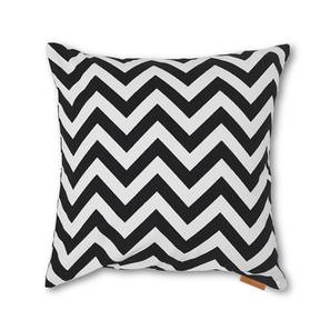 LadyBird Cushion Cover - Set Of 2 (Chevron Black Pattern) by Urban Ladder