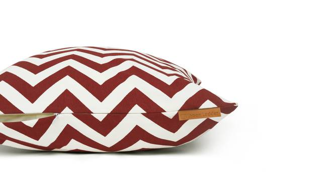 LadyBird Cushion Cover - Set Of 2 (Chevron Red Pattern) by Urban Ladder