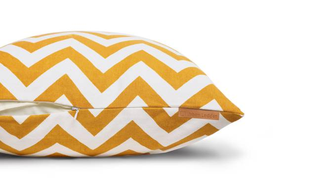 SeeSaw Cushion Cover - Set Of 2 (Ripple Yellow Pattern) by Urban Ladder