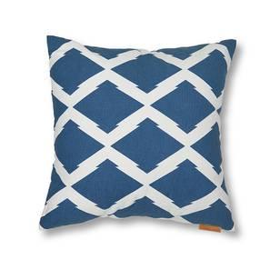Trellis Cushion Cover - Set Of 2 (Blue) by Urban Ladder