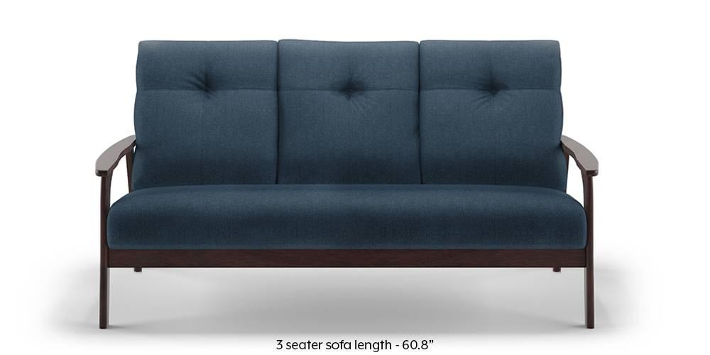Brandon Wooden Sofa (Blue) by Urban Ladder