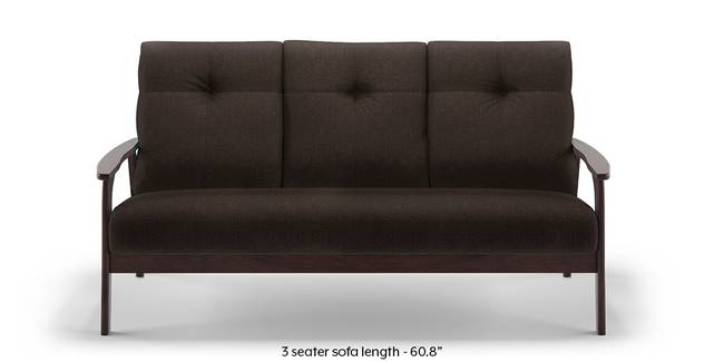 Brandon Wooden Sofa (Brown) (Brown, 1-seater Custom Set - Sofas, None Standard Set - Sofas, Fabric Sofa Material, Regular Sofa Size, Regular Sofa Type)