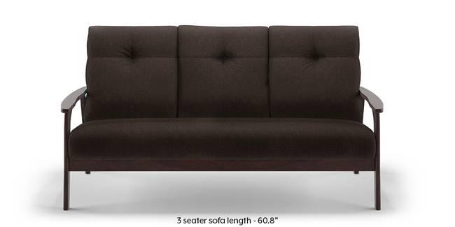 Brandon Wooden Sofa (Brown) (Brown, 1-seater Custom Set - Sofas, None Standard Set - Sofas, Fabric Sofa Material, Regular Sofa Size, Regular Sofa Type)