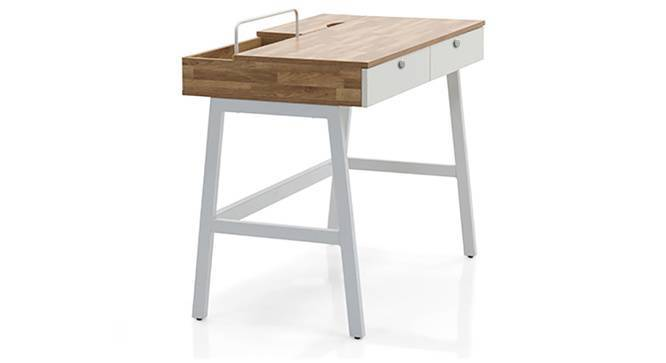 Terry - Ray Study Set (White, Golden Oak Finish) by Urban Ladder - Cross View Design 1 - 215946