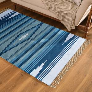 "Malatya Dhurrie (Blue, 36"" x 60"" Carpet Size) by Urban Ladder"