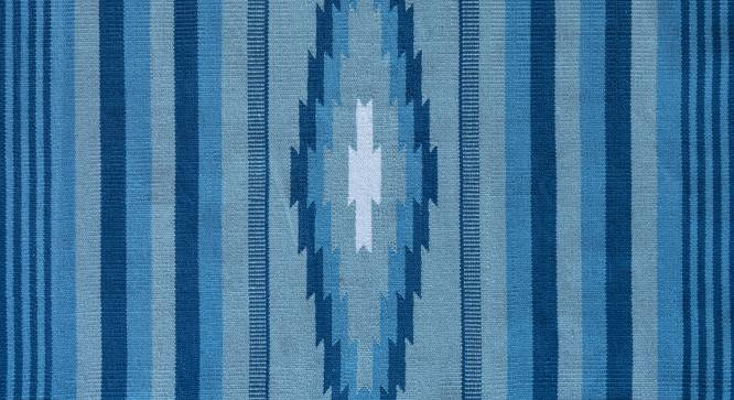 "Malatya Dhurrie (Blue, 48"" x 72"" Carpet Size) by Urban Ladder"