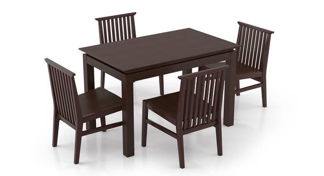 Diner - Angus 4 Seater Dining Table Set (Dark Walnut Finish) by Urban Ladder