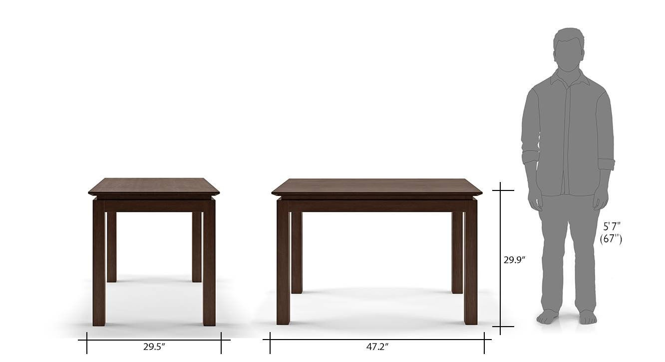 Diner angus 4 seater dining table set 12