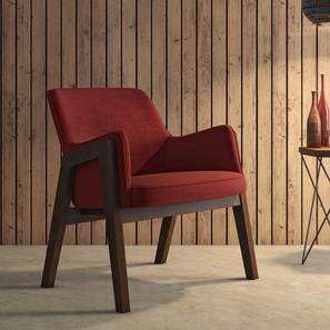 Carven Lounge Chair (Red) by Urban Ladder - Design 1 - 216193