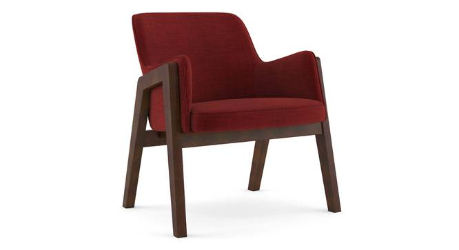 Carven Lounge Chair (Red) by Urban Ladder - Cross View Design 1 - 216195