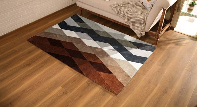 "Carlton Carpet (Brown, 91 x 152 cm  (36"" x 60"") Carpet Size) by Urban Ladder - Design 1 Full View - 216243"