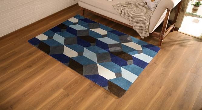 "Elberta Carpet (Blue, 152 x 244 cm  (60"" x 96"") Carpet Size) by Urban Ladder - Design 1 Full View - 216261"