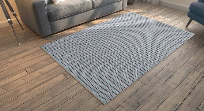 "Kelpie Dhurrie (Blue, 91 x 152 cm  (36"" x 60"") Carpet Size) by Urban Ladder - Design 1 Full View - 216269"
