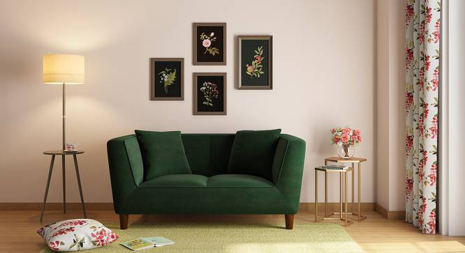 Janet Loveseat (Emrald Green Velvet) by Urban Ladder