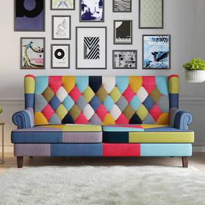 Minnelli 3 Seater Loveseat (Retro Patchwork) by Urban Ladder - Design 1 Full View - 218027